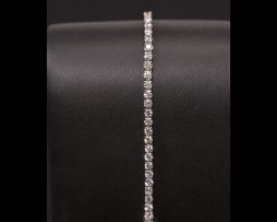 Lady's 14K White Gold Diamond Straight Line Bracelet available at John Wallick Jewelers in Sun City, Arizona near Phoenix, AZ