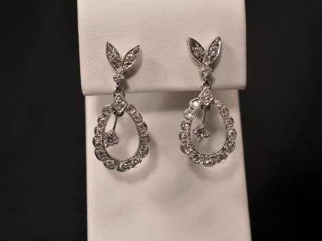 14K White Gold Pierced Diamond Earrings available at John Wallick Jewelers in Sun City, Arizona near Phoenix, AZ