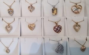 Heart Shaped Jewelry at John Wallick Jewelers in Sun City Arizona near Phoenix, AZ