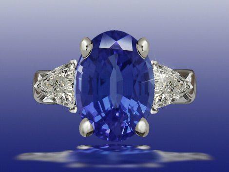Blue Silk Ring