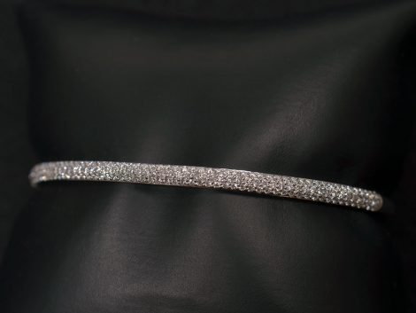 Lady's White Gold Diamond Bracelet available at John Wallick Jewelers in Sun City, Arizona near Phoenix, AZ