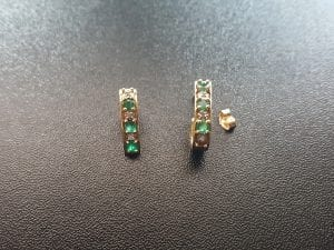 Emerald and Diamond Earrings, available at John Wallick Jewelers, in Sun City, Arizona, near Phoenix, AZ