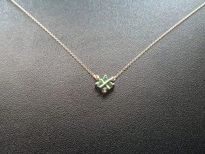 Emerald Pendant Necklace - the Birthstone for May, available at John Wallick Jewelers, in Sun City, Arizona, near Phoenix, AZ