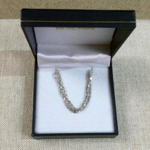 Lady's White Gold Multi-Strand Chain