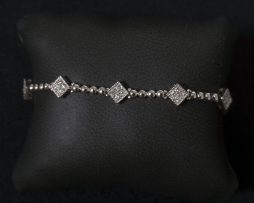 Lady's 14K White Gold Diamond Bracelet available at John Wallick Jewelers in Sun City, Arizona near Phoenix, AZ
