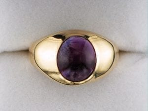Men's Cabochon Cut Amethyst Ring at John Wallick Jewelers in Sun City, Arizona near Phoenix, AZ