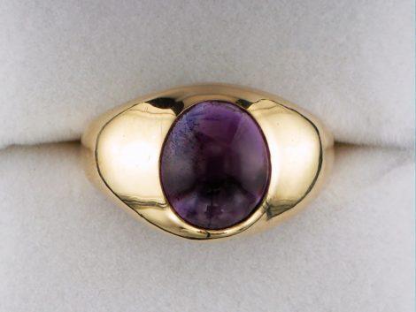 Men's Cabochon Cut Amethyst Ring at John Wallick Jewelers in Sun City, Arizona near Phoenix, AZ