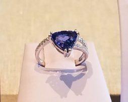 Tanzanite and Diamonds, White Gold Ring available at John Wallick Jewelers in Sun City, AZ near Glendale, Arizona