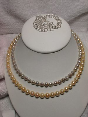 Pearls and Anklet available at John Wallick Jewelers, in Sun City, Arizona