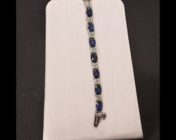 Oval Sapphire Silver Bracelet available at John Wallick Jewelers in Sun City, Arizona near Phoenix, AZ