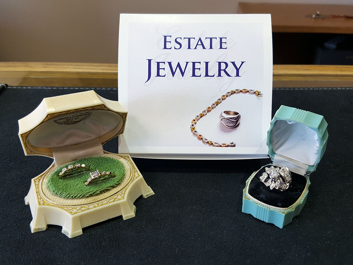 Vintage Circa 40's and 50's Ladies Diamond Rings - Estate Jewelry at John Wallick Jewelers in Sun City Arizona near Phoenix, AZ