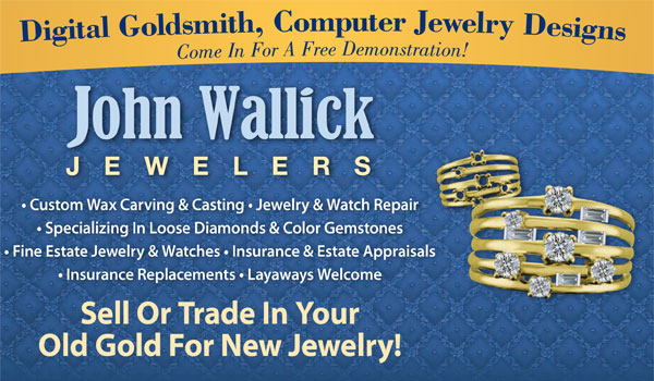 We Buy Gold at John Wallick Jewelers, located in Sun City, Arizona, within the metro Phoenix area.