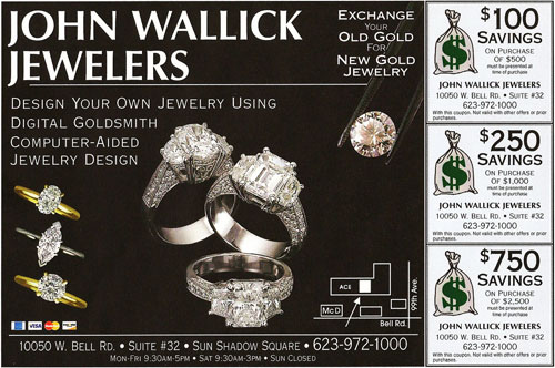 john wallick jewelers jewelry store in sun city west az