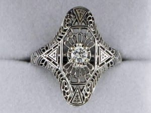 John Wallick Jewelers: White Gold Diamond Estate Ring