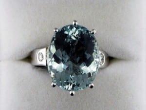 Aquamarine and Diamond Ring at John Wallick Jewelers, in Sun City, Arizona, near Phoenix, AZ