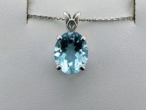 Aquamarine Pendant at John Wallick Jewelers, in Sun City, Arizona, near Phoenix, AZ