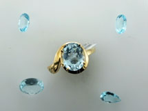 Aquamarines, the March gemstone, is available at John Wallick Jewelers in Sun City Arizona near Phoenix, AZ