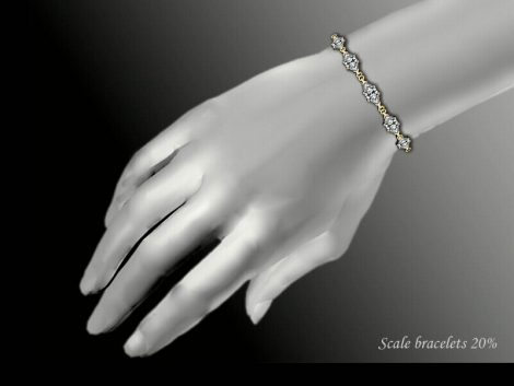 Yellow and White Gold Diamond Bracelet