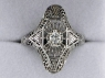 White Gold Diamond Estate Ring