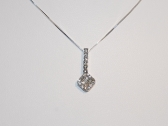 White Gold Pendant Necklace with Diamonds