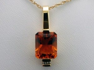 Citrine Pendant available at John Wallick Jewelers, in Sun City, Arizona, near Phoenix, AZ