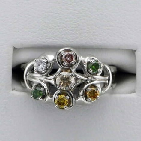Lady's Colored Diamond Custom Ring available at John Wallick Jewelers in Sun City, Arizona near Glendale, AZ
