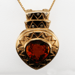 Diamond and Citrine Pendant available at John Wallick Jewelers, in Sun City, Arizona, near Phoenix, AZ