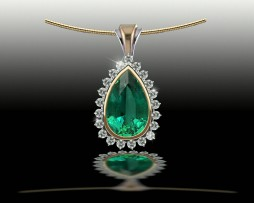 Emerald and Diamond Pendant: John Wallick Jewelers, Sun City, AZ - Phoenix, Arizona