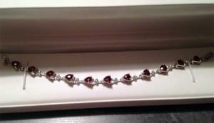 Garnet bracelet available at John Wallick Jewelers, in Sun City, Arizona, near Phoenix, AZ