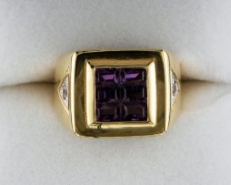 Ladies Amethyst and Diamond Ring at John Wallick Jewelers in Sun City, Arizona near Phoenix, AZ