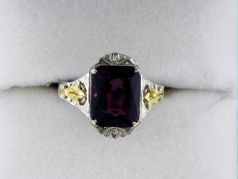 Ladies Amethyst White and Yellow Gold Ring at John Wallick Jewelers in Sun City, Arizona near Phoenix, AZ