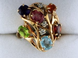 Ladies Multi Colored Gem Stone Ring at John Wallick Jewelers in Sun City, Arizona near Phoenix, AZ