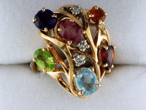 Ladies Multi Colored Gem Stone Ring at John Wallick Jewelers in Sun City, Arizona near Phoenix, AZ