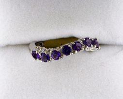 Ladies White Gold Amethyst Ring at John Wallick Jewelers in Sun City, Arizona near Phoenix, AZ