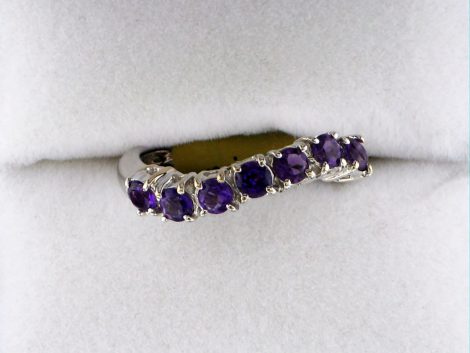 Ladies White Gold Amethyst Ring at John Wallick Jewelers in Sun City, Arizona near Phoenix, AZ