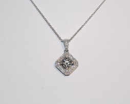 John Wallick Jewelers: White Gold Diamond Pendant Necklace