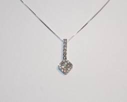 John Wallick Jewelers: White Gold Pendant Necklace with Diamonds