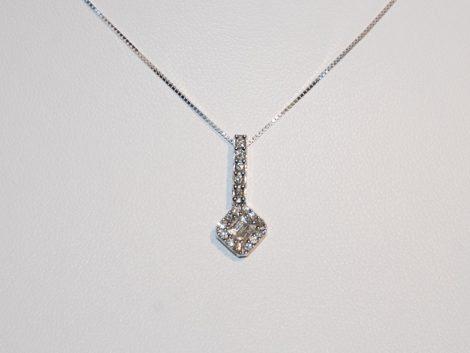 John Wallick Jewelers: White Gold Pendant Necklace with Diamonds