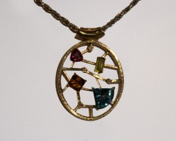 John Wallick Jewelers: Precious Gemstones Pendant Necklace