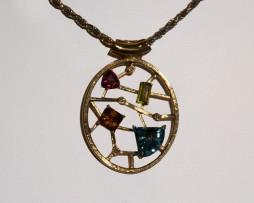 John Wallick Jewelers: Precious Gemstones Pendant Necklace