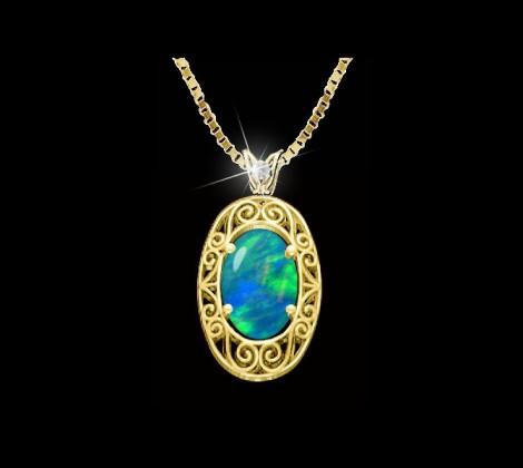 Opal Pendant: John Wallick Jewelers, Sun City, AZ - Phoenix, Arizona