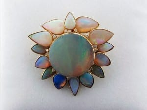 Opal pin and pendant cluster available at John Wallick Jewelers, in Sun City, Arizona, near Phoenix, AZ