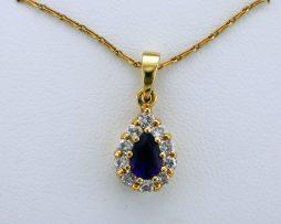 Pear Shaped Amethyst and Diamond Pendant Necklace at John Wallick Jewelers in Sun City, Arizona near Phoenix, AZ