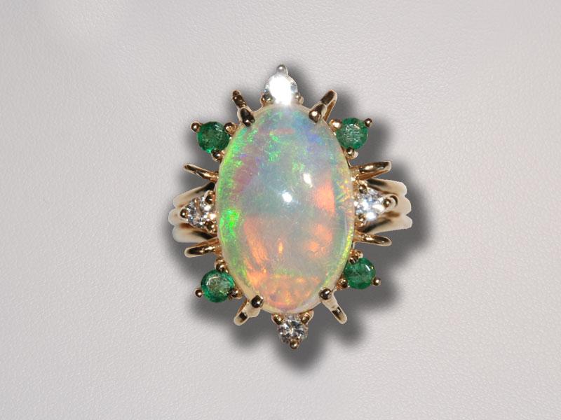 opal rings in emerald rings ring sun