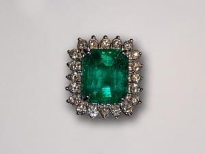 John Wallick Jewelers: Emerald, Opal and Diamond Ring