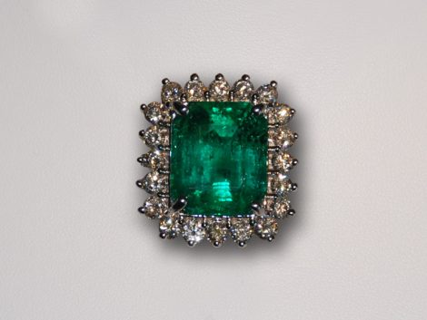 John Wallick Jewelers: Emerald, Opal and Diamond Ring