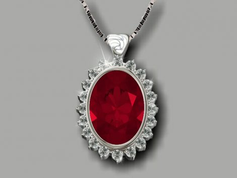 Ruby Pendant: John Wallick Jewelers, Sun City, AZ - Phoenix, Arizona