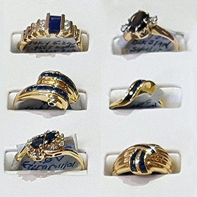 Sapphire Rings at John Wallick Jewelers in Sun City Arizona near Phoenix, AZ