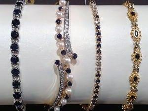 Sapphire Bracelets - the Birthstone for September, available at John Wallick Jewelers, in Sun City, Arizona, near Phoenix, AZ