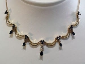 Sapphire Necklace - the Birthstone for September, available at John Wallick Jewelers, in Sun City, Arizona, near Phoenix, AZ